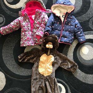Bundle of 2 girl jackets and Halloween costume